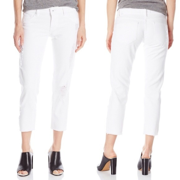 48e903eec850 DL1961 White Riley Boyfriend Cropped Jeans Pants